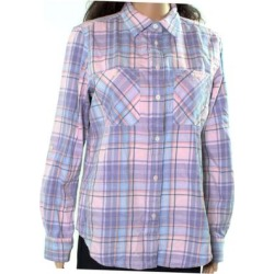 Lauren By Ralph Lauren Womens Top Purple Size XL Plaid Button Down Shirt found on Bargain Bro India from Overstock for $37.98