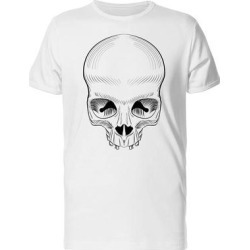 Big Forehead Skull Tee Men's -Image by Shutterstock (S), White found on Bargain Bro from Overstock for USD $10.63