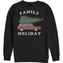 Fifth Sun Men's Sweatshirts and Hoodies BLACK - Black 'Family Holiday' Wagon Sweatshirt - Men found on Bargain Bro from zulily.com for USD $15.19