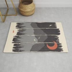 Winter Mountain Weather... Modern Throw Rug by Ndtank - 2' x 3' found on Bargain Bro Philippines from Society6 for $39.20