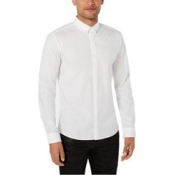 Hugo Boss Mens Hardware Tip Button Up Shirt (XX-Large), Men's, White(cotton, solid) found on MODAPINS from Overstock for USD $73.35