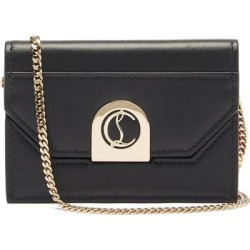 Elisa Leather Crossbody Cardholder - Black - Christian Louboutin Shoulder Bags found on Bargain Bro from lyst.com for USD $448.40