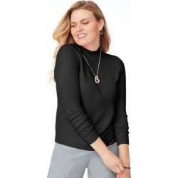Women's Plus Cashmere-Like Long-Sleeve Sweater, Black XL found on Bargain Bro Philippines from Blair.com for $33.99