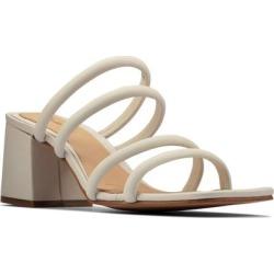Clarks Sheer Slide Sandal - White - Clarks Heels found on Bargain Bro India from lyst.com for $130.00