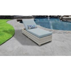Fairmont Chaise Outdoor Wicker Patio Furniture in Spa - TK Classics Fairmont-1X-Spa
