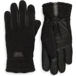 UGG Stretch Palm Fleece Gloves - Black - Ugg Gloves found on Bargain Bro from lyst.com for USD $64.60