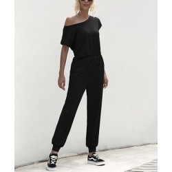Amasoo Women's Jumpsuits black - Black Short-Sleeve Jumpsuit - Women found on Bargain Bro Philippines from zulily.com for $19.99