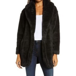 UGG Annona Faux Shearling Travel Cardigan - Black - Ugg Knitwear found on Bargain Bro from lyst.com for USD $97.28
