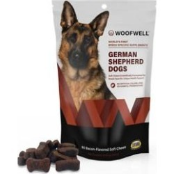 WoofWell Health Support Bacon Flavored German Shepherd Soft Chews Dog Supplement, 60 count