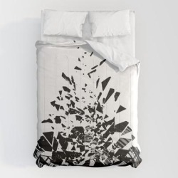 Comforters | Vinyl Shatter by Grandeduc - Queen: 88