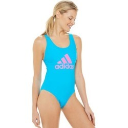 Women's adidas Crossback One-Piece Swimsuit, Size: Medium, Brt Blue found on Bargain Bro from Kohl's for USD $46.82