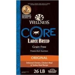 Wellness CORE Grain-Free Large Breed Chicken & Turkey Recipe Dry Dog Food, 26-lb bag