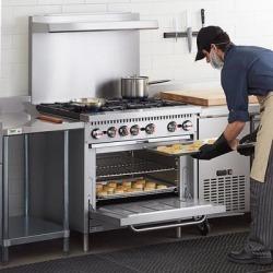 "Cooking Performance Group S36-L Liquid Propane 6 Burner 36"" Range with Standard Oven - 210,000 BTU"