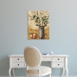 Easy Art Prints Jade Reynolds's 'Leaves & Apples' Premium Canvas Art found on Bargain Bro Philippines from Overstock for $86.40