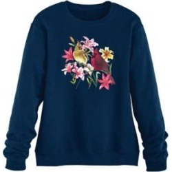 Women's Plus Graphic Sweatshirt, Navy/Cardinals 3XL found on Bargain Bro Philippines from Blair.com for $31.99