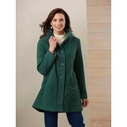 Haband Women's Fleece Swing Jacket, Evergreen, Size Misses, XL found on Bargain Bro Philippines from Haband for $36.99