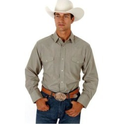 Roper Western Shirt Mens L/S Snap Stripe Loden (M), Men's, Green(cotton) found on Bargain Bro India from Overstock for $39.94