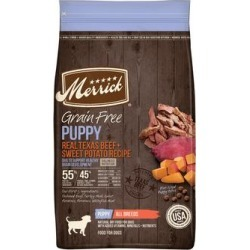 Merrick Grain Free Real Beef & Sweet Potato Recipe Dry Puppy Food, 22 lbs.