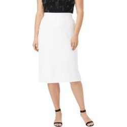Plus Size Women's Tummy Control Bi-Stretch Pencil Skirt by Jessica London in White (Size 28 W) found on Bargain Bro Philippines from Ellos for $34.99