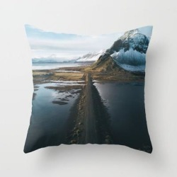 Couch Throw Pillow | Mountain Road In Iceland - Landscape Photography by Michael Schauer - Cover (16