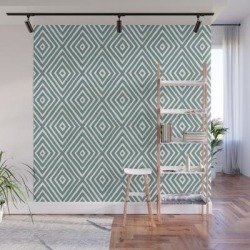 Diamond Painted-blue Wall Mural by Anneke Doorenbosch - 8' X 8' found on Bargain Bro India from Society6 for $209.99