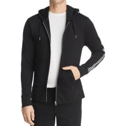 Sovereign Code Mens Hoodie Black Size Small S Checkered Sleeve Zip-Front (S), Men's(cotton) found on MODAPINS from Overstock for USD $38.98