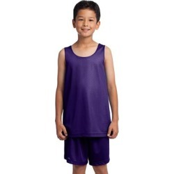 Sport-Tek YST500 Athletic Youth PosiCharge Classic Mesh Reversible Tank Top in Purple size Medium | Polyester found on Bargain Bro India from ShirtSpace for $7.74