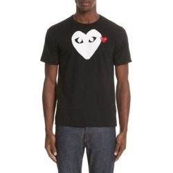 Comme Des Garçons Play X-ray Heart Logo Graphic Tee - Black - Comme des Garçons T-Shirts found on MODAPINS from lyst.com for USD $125.00
