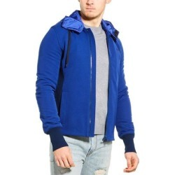 Valentino Ribbed Paneled Jacket (48), Men's, Blue(nylon) found on Bargain Bro Philippines from Overstock for $659.99