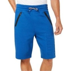 DKNY Mens Debossed Casual Walking Shorts, Blue, Small (Blue - Small), Men's(cotton, solid) found on Bargain Bro from Overstock for USD $39.02