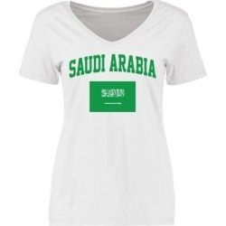 Saudi Arabia Women's Flag T-Shirt - White found on Bargain Bro from Fanatics for USD $16.71