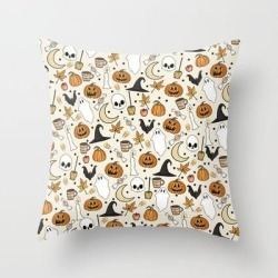 Couch Throw Pillow | Happy Halloween by Jordyn St. John - Cover (16