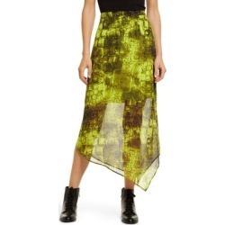 Rhea Mirus Asymmetrical Skirt - Green - AllSaints Skirts found on Bargain Bro India from lyst.com for $215.00