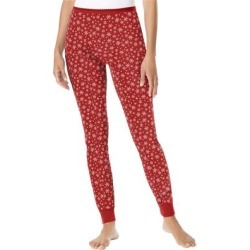 Plus Size Women's Thermal Lounge Pant by Comfort Choice in Classic Red Snow Fall (Size 1X) found on Bargain Bro Philippines from Ellos for $14.99
