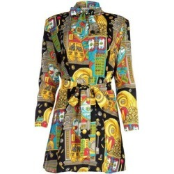 Graphic Printed Mini Dress - Yellow - Moschino Dresses found on Bargain Bro Philippines from lyst.com for $393.00