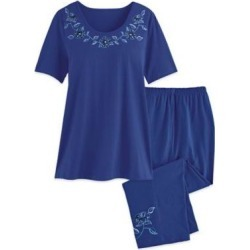 Women's Plus Lounge Set, Classic Blue 2XL found on Bargain Bro from Blair.com for USD $28.11