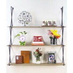 3-Tier Wall Mount Hanging Shelves Book Shelves Storage, Display & Decor for Home