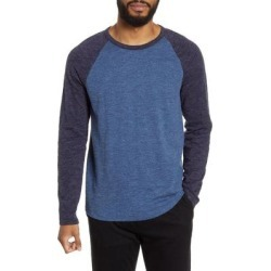 Slim Fit Long Sleeve Baseball T-shirt - Blue - Vince T-Shirts found on Bargain Bro India from lyst.com for $55.00
