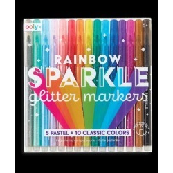 ooly Markers - Rainbow Sparkle Glitter Marker - Set of 15 found on Bargain Bro Philippines from zulily.com for $13.99