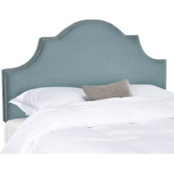Safavieh Hallmar Sky Blue Upholstered Arched Headboard - Silver Nailhead (Full) found on Bargain Bro from Overstock for USD $155.03