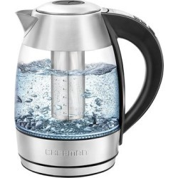 Chefman Electric Kettles Stainless - Rapid Boiling Digital Electric Glass Kettle