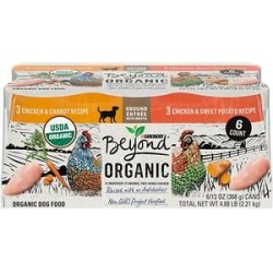 Purina Beyond Organic Chicken Recipes Variety Pack High Protein Wet Dog Food, 13-oz can, case of 12