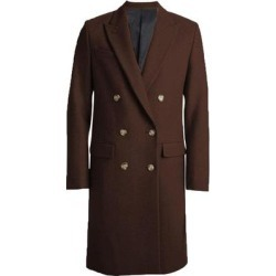 Men's Brown Wool Double Breasted Full Length Overcoat By Alberto Nardoni Brand Designer (44 S) found on MODAPINS from Overstock for USD $170.00
