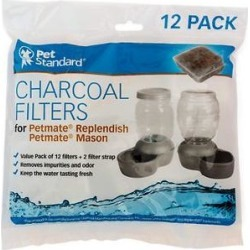 Pet Standard Charcoal Filters for PetMate Replendish, 12 count