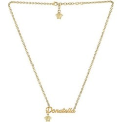 Nameplate Necklace - Metallic - Versace Necklaces found on Bargain Bro from lyst.com for USD $266.00