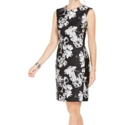 petite N Natori Womens Sheath Dress Black Size 10 Floral-Print Jacquard (10), Women's found on Bargain Bro Philippines from Overstock for $49.99