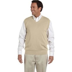 Men's Stone Beige Big and Tall V-Neck Vest found on Bargain Bro Philippines from Overstock for $33.49