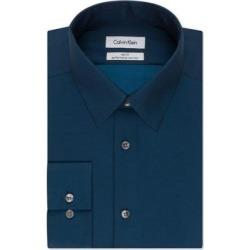 Calvin Klein Mens Dress Shirt Blue Size Medium M Slim Fit Non-Iron (M), Men's(cotton) found on Bargain Bro from Overstock for USD $28.86