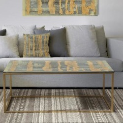 Designart 'Glam Metallic Form IV' Metal Transitional Coffee Table (Sled - Assembly Required), Gold, DESIGN ART found on Bargain Bro from Overstock for USD $153.13