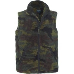 Smith's Workwear Men's Outerwear Vests GREEN - Green Camo Sherpa Full-Zip Vest - Men found on Bargain Bro Philippines from zulily.com for $16.99